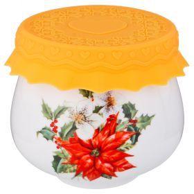 Баночка для меда/варенья с силиконовой крышкой