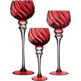 Комплект из 3-х ваз интерьерных. диаметр=13см. высота=30/35/40см-185-1027