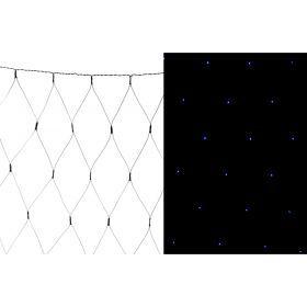 Электрогирлянда со светодиодами-сеть 130х140 см  220в  100 led   голубой-857-022