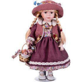 Кукла фарфоровая высота=40 см.-346-229