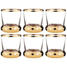 Набор стаканов для виски из 6 шт.500 мл.высота=10 см.-103-502
