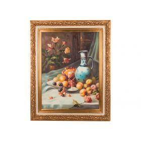 Картина масляная на холсте 101*75 см. багет 127*102 см.-107-1102