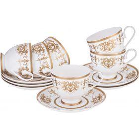 Чайный набор на 6 персон 12 пр 200 мл.-760-572