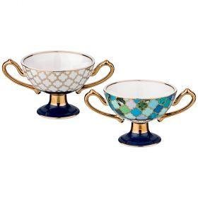 Набор креманок из 2-х шт диаметр=8 см высота=6,5 см (кор=16набор.)-86-2273