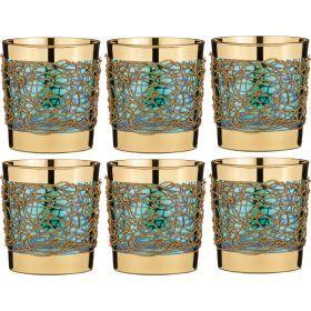 Набор стаканов из 6 шт.300 мл.высота=9 см.-103-528