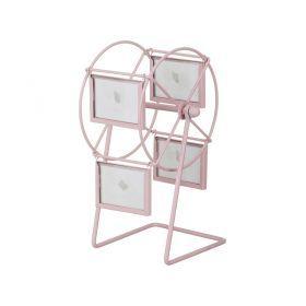 Фоторамка розовая  карусель 13,5*22*14 см