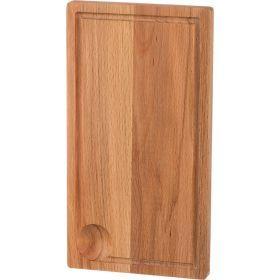 Доска деревянная с круглой выемкой 35*17 см.-430-163