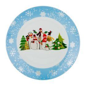 Тарелка десертная диаметр=20 см. без упаковки (Товар продается кратно 6шт./кор=36шт.)-356-310
