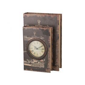 Шкатулка-книга с часами кварцевыми 33*22*13 см.диаметр циферблата=10 см.