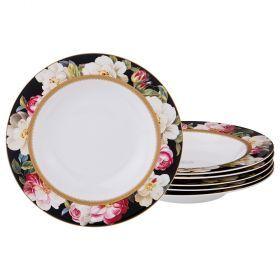 Набор суповых тарелок из 6 шт 21,5*21,5*3 см-87-164