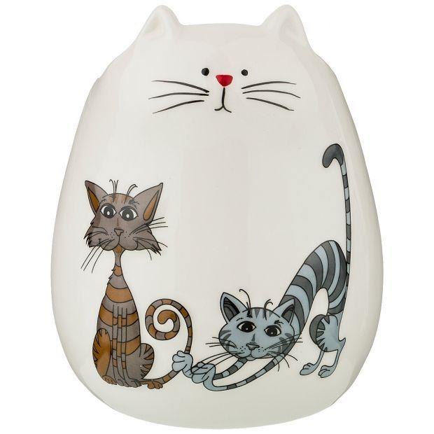 """Подставка для кухонных принадлежностей коллекция  """"озорные коты"""" 12*12*15 см (кор=24шт.)-188-184"""