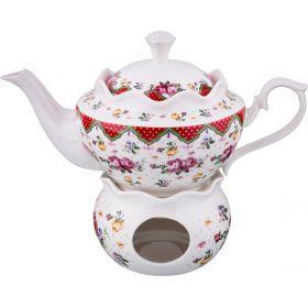 Чайник заварочный на подставке 700 мл.-165-387