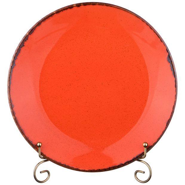 Тарелка seasons плоская 24 см цвет оранжевый (кор=12шт.)-664-197