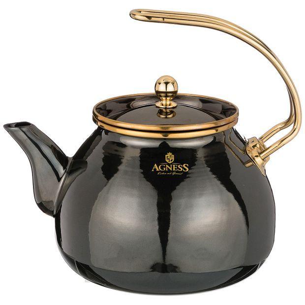 Чайник agness эмалированный, 3,0л подходит для индукц.плит-950-265