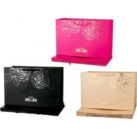 Комплект бумажных пакетов из 10 шт. 60*40*23 см. 3 цвета-521-149