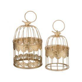 Набор клеток для птиц декоративных из 2-х шт.l:14*26,s:11*19 см-123-174