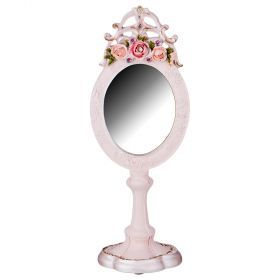 Зеркало настольное 24*10 см размер зеркала 8*7 см (кор=24шт.)-504-219