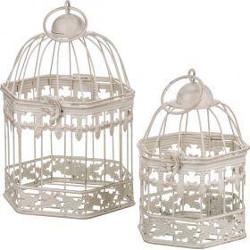 Набор клеток для птиц декоративных из 2-х шт.l:16*14*24,s:12*11*18 см-123-140