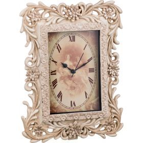 Часы кварцевые настольные 20,2*6*26,3 см.-251-409