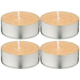 Набор ароматических стеариновых свечей из 4 шт. vanilla диметр 6 см высота 2 см-348-666