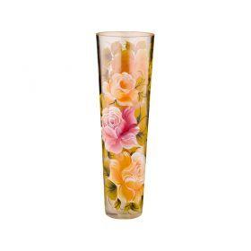 Ваза декоративная ветка розы кремовая высота 40 см-135-5050