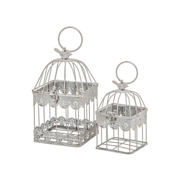 Набор клеток для птиц декоративных из 2-х шт.l:14*26,s:11*19 см-123-175