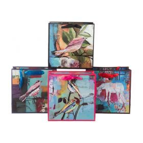 Комплект бумажных пакетов из 12 шт 20*20*8 см.4 вида-512-515
