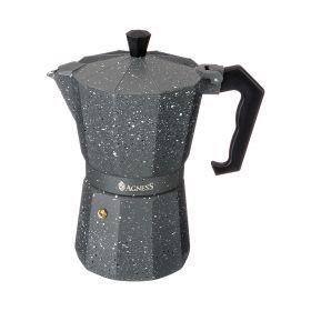 Кофеварка гейзерная, 150 мл на 3 чашки (кор=36шт.)-944-005