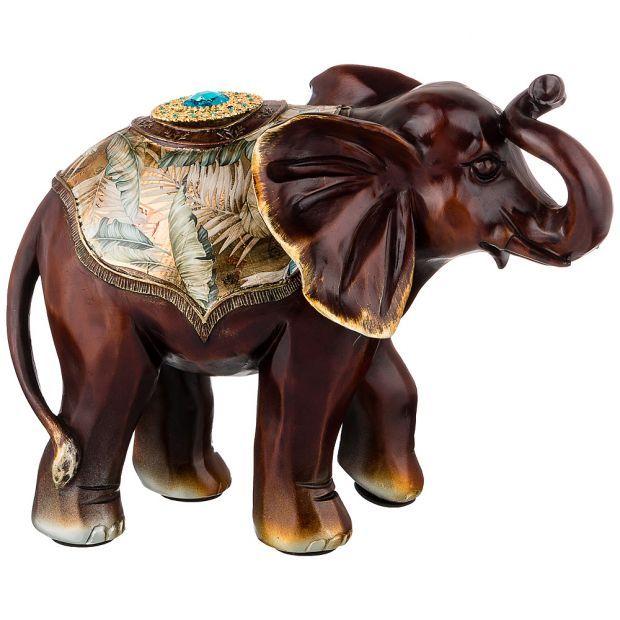 """Фигурка """"слон интерьерный """"сохранение здоровья"""" 34,5*16,5*25,5см (кор=6 шт.)-114-418"""