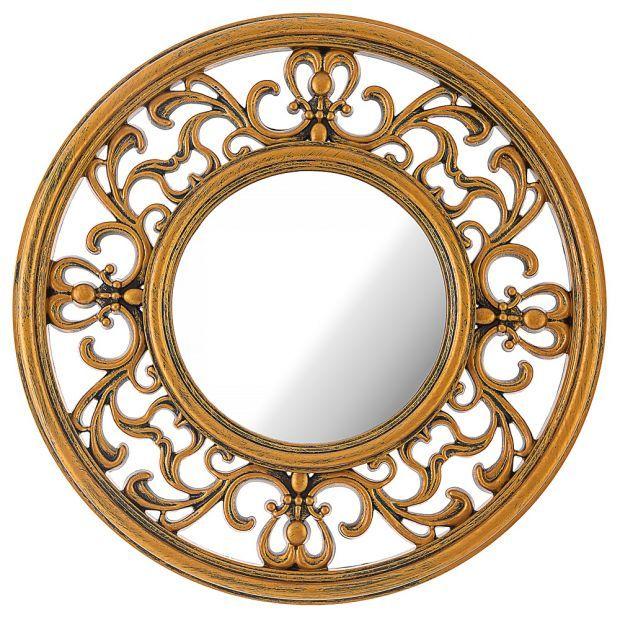 "Зеркало настенное ""italian style"" 31 см цвет: золото (кор=6шт.)-220-407"
