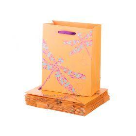 Комплект бумажных пакетов из 10 шт.23*18*9 см.-73-552