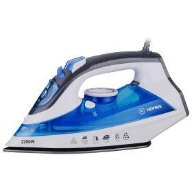 Утюг hottek ht-955-101 2200вт, антипригарная подошва, цвет голубой (кор=10шт.)-955-101
