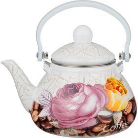 Чайник эмалированный с фильтром из нжс 1,3 л.-934-345