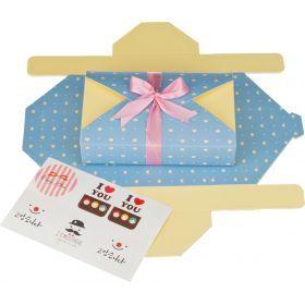 Комплект коробок подарочных из 6 шт.20*13 см.высота=4 см.-527-102