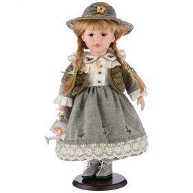 Кукла фарфоровая высота=42 см.-346-232