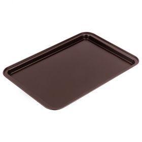 Противень, антипригарное покрытие 43*29*2 см, шоколад-904-025