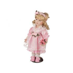 Фарфоровая кукла с мягконабивным туловищем высота=30 см-485-086