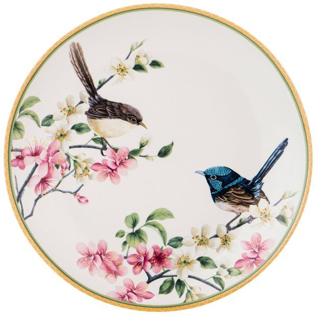 "Тарелка закусочная ""цветущий сад"" 20см (кор=48шт.)-104-555"