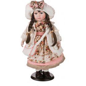 Кукла фарфоровая высота=43 см.-346-109