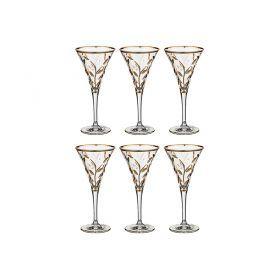 Набор бокалов для шампанского из 6шт.лаурус 150 мл.высота=18,5 см.