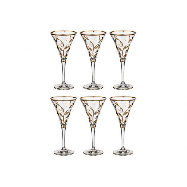 """Набор бокалов для шампанского из 6шт.""""лаурус"""" 150 мл.высота=18,5 см."""