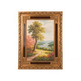 Картина масляная на холсте 90*60 см. багет 125*94 см.-107-1068