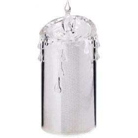 Комплект из 4-х декоративных свечей диаметр=7,5 см высота=18 см дизайн: горный хрусталь-234-130