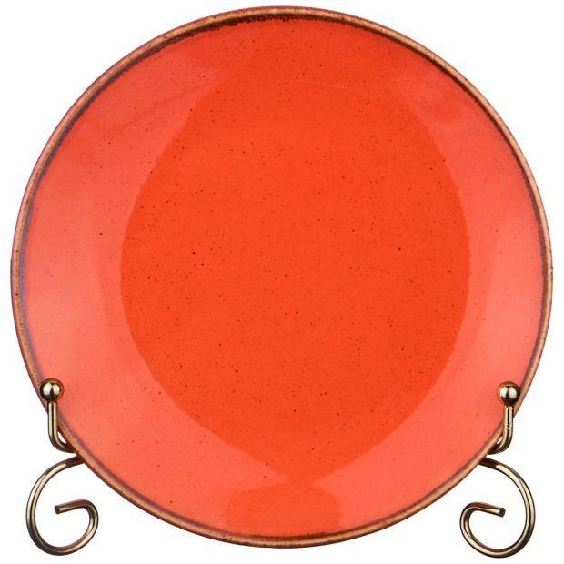 Тарелка seasons 18 см цвет оранжевый (кор=12шт.)-664-173