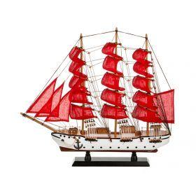 Модель корабля 50*10 см. высота=45 см.