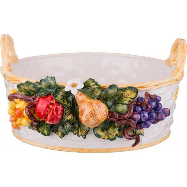 """Изделие декоративное """"корзина с фруктами"""" диаметр=44 см. высота=22 см.-335-323"""