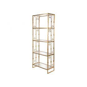 Подставка дизайнерская  66*30,5*170 см цвет:состаренное золото-218-062