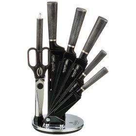 Набор ножей agness с ножницами и мусатом на пластиковой подставке, 8 предметов-911-677