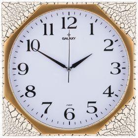 Часы настенные кварцевые  29,5*29,5 см диаметр циферблата 26,3 см (кор=20шт.)-207-348