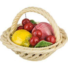 Изделие декоративное корзина с фруктами диаметр=19 см.высота=13 см.